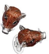Jan Leslie Boar Head Cuff Links