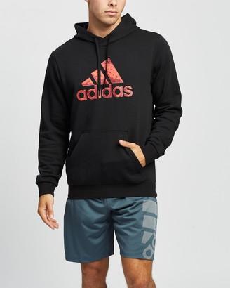 adidas Men's Black Hoodies - Fleece Hooded Sweatshirt - Size S at The Iconic