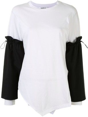 Enfold long tie-sleeves detail T-shirt