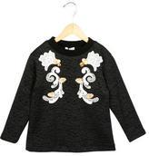 Dolce & Gabbana Girls' Embellished Crew Neck Dress w/ Tags