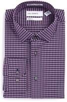 Men's Calibrate Trim Fit Non-Iron Check Stretch Dress Shirt