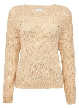 Dorothy Perkins Womens Only Neutral Knitted Jumper
