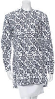 Dries Van Noten Printed Button-Up Tunic