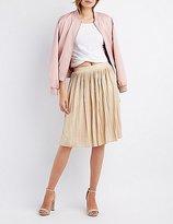 Charlotte Russe Micro Pleated Midi Skirt