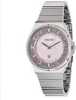 Seiko Women's SXDG13 Matrix Analog Display Japanese Quartz Silver Watch