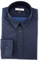 Versace Button-Front Textured Dress Shirt, Dark Blue
