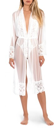 Jonquil Words of Love Lace & Mesh Robe