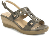 Pierre Dumas Pewter Square-Cutout Daphne Wedge