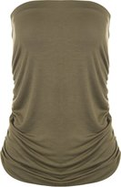 WearAll Plus Size Plain Bandeau Top - US 10-12 (UK 14-16)