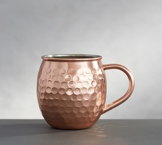Pottery Barn Hammered Copper Moscow Mule Mug, Set of 2