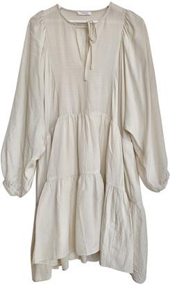 Anine Bing Spring Summer 2020 Beige Silk Dresses