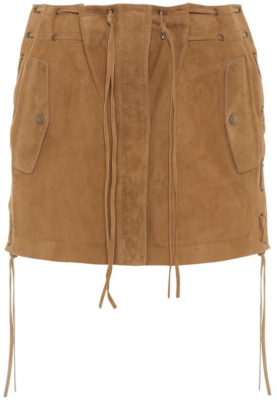 Saint Laurent Suede miniskirt