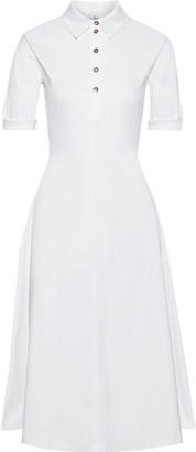 Iris & Ink Plumeria Flared Cotton-jersey Midi Shirt Dress