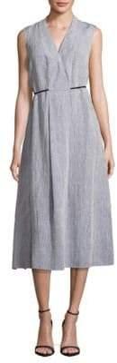 Lafayette 148 New York Tawny Sleeveless Linen Dress
