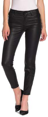 Tractr Sequin Striped High Rise Coated Skinny Jeans