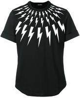 Neil Barrett lightning bolt print T-shirt - men - Cotton - 39