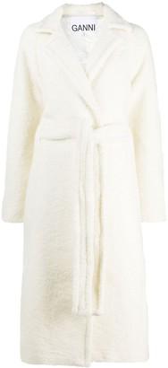 Ganni Wrap Mid-Length Coat
