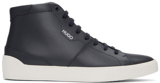 HUGO BOSS Navy Zero High-Top Sneakers
