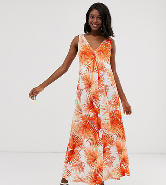 ASOS DESIGN Maternity low back maxi dress in palm print