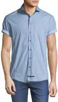 English Laundry Solid Short-Sleeve Sport Shirt