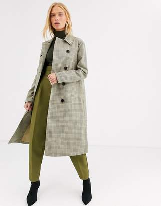 Selected long line trench coat-Grey
