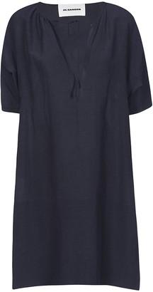 Jil Sander Oversized V-neck Dress