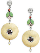 Gerard Yosca Floral Disc Drop Earrings