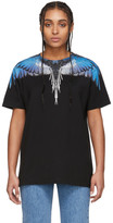 Marcelo Burlon County of Milan Black and Blue Wings T-Shirt