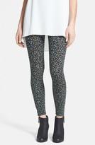 Lily White Zip Cuff Print Leggings (Juniors)