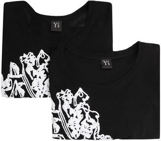 Y's Floral-Print Long-Sleeved Top