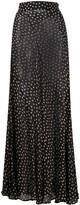 Ganni dot print maxi skirt