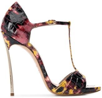 Casadei embossed stiletto sandals