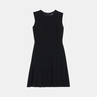 Theory Pintuck Dress in Crepe