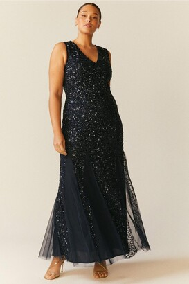 Coast Curve Sequin Split Skirt Maxi Dress