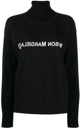 MM6 MAISON MARGIELA reversed logo double-layer jumper