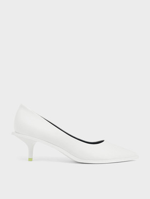 Charles & Keith Two-Tone Pointed Toe Mini Heel Pumps