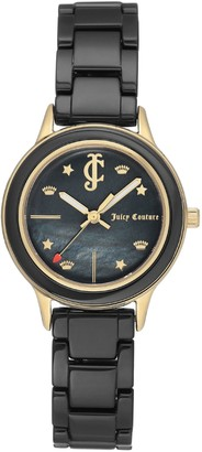 Juicy Couture Black Ceramic Watch w/ Mother-of-Pearl Dial