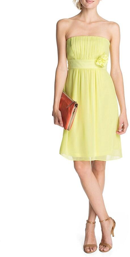 Thumbnail for your product : Esprit Women's Knee-Length Dress 053EO1E018 - Yellow - XXS