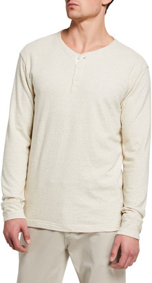 Rails Men's Tonal Stripe Long-Sleeve Henley T-Shirt