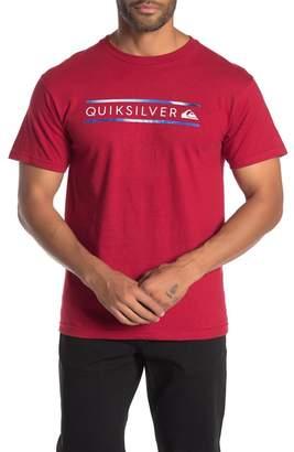 Quiksilver Logo Printed Short Sleeve T-Shirt