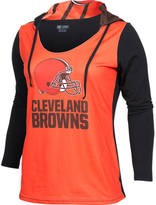 COLLEGE CONCEPTS INC Women's College Concepts Cleveland Browns NFL Poly Hooded Shirt