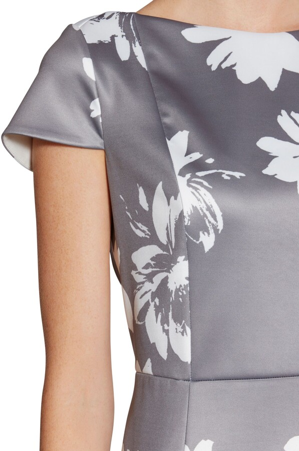 Thumbnail for your product : Gina Bacconi Betsy Brushed Flower Dress, Grey/Multi