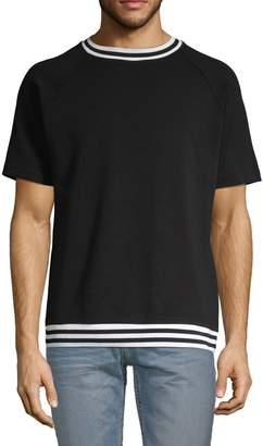 Karl Lagerfeld Paris Ribbed Short-Sleeve Tee