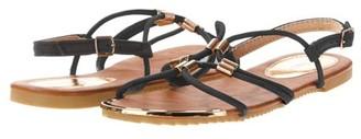 Victoria K. Victoria K Women's Gladiator Sandals with Gold Embellishments