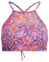 Ralph Lauren Mesh-Yoke Paisley Bikini Top Multi 14