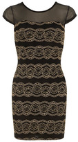 Dorothy Perkins Black lace bodycon dress