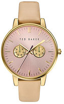 Ted Baker Liz Multifunction Leather-Strap Watch