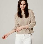 LOFT Mixed Pointelle Sweater