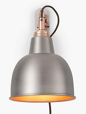 John Lewis & Partners Baldwin Extending Wall Light, Pewter/Copper