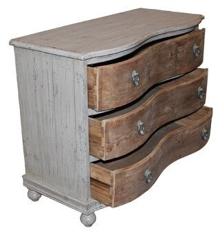 Gracie Oaks Steffi 3 Drawer Dresser